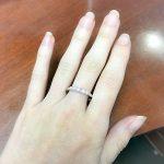 טבעת חמש יהלומים מסתרגת