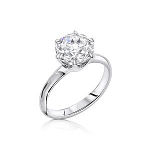 טבעת יהלום סוליטר בדגם אלכסנדרה