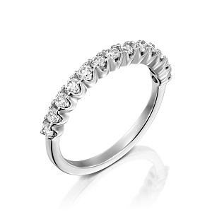 טבעת יהלומים שורה דגם ולנטיין