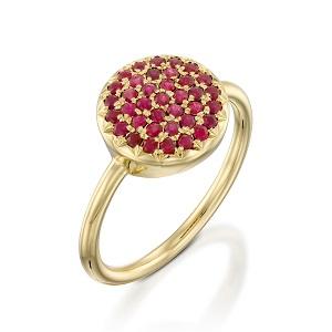 טבעת רובי דגם Berry W - זהב צהוב