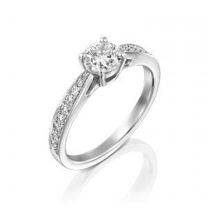 טבעת יהלומים דגם קתדרלה