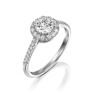 טבעת יהלומים דגם הילה