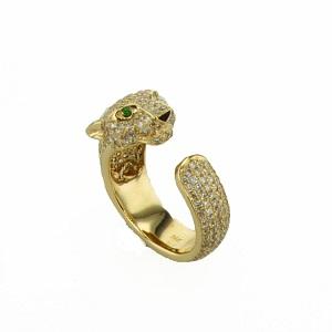 טבעת יהלומים דגם יגואר
