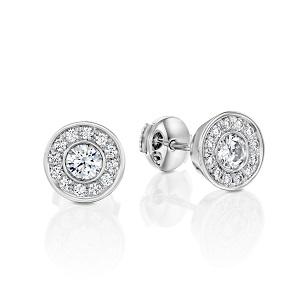 עגילי יהלומים דגם יוני