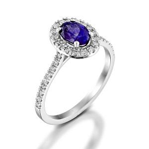 טבעת אמטיסט ויהלומים דגם מורן