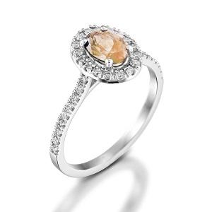 טבעת מורגנייט ויהלומים דגם מורן
