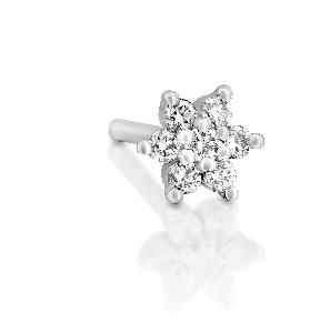 עגיל פירסינג פרח יהלומים קטן