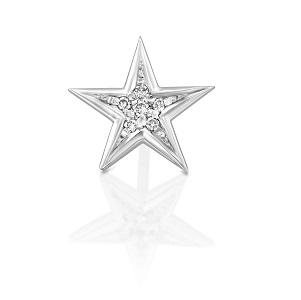 עגיל פירסינג כוכב יהלומים