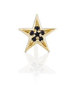 עגיל פירסינג כוכב יהלומים שחורים