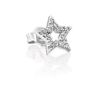 עגיל פירסינג כוכב יהלומים דק