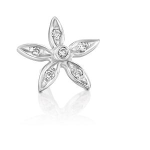 עגיל פירסינג פרח יהלומים