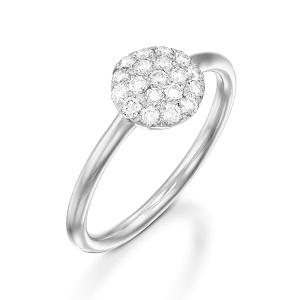 טבעת יהלומים לבנים דגם בזהב לבן Berry