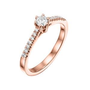 טבעת יהלומים לאירוסין זהב ורוד דגם סטפני